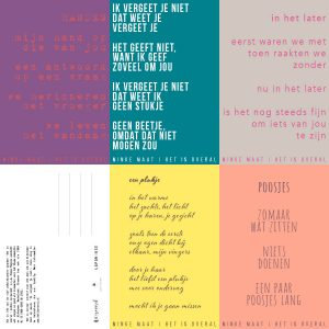 Vijf poëziekaarten voor het goede doel